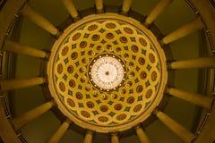 Het Capitool die van de V.S. de Ondergrondse Architectuur van de Cryptkroonluchter inbouwen Stock Afbeeldingen