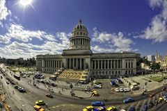 Het Capitool in Havana, Cuba stock fotografie