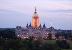 Het Capitool van de staat, Connecticut stock foto's