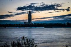 Het Capitool van de Staat van Louisiane bij zonsopgang stock afbeeldingen