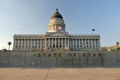 Het Capitool van de Staat van Utah bij nacht 1 Salt Lake City Royalty-vrije Stock Afbeelding
