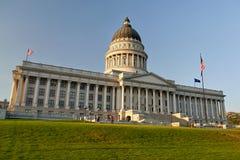 Het Capitool van de Staat van Utah bij nacht 1 Salt Lake City Royalty-vrije Stock Afbeeldingen