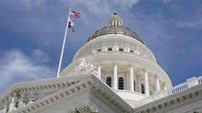 Het Capitool van de Staat van Californië stock video