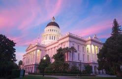 Het Capitool van de Staat van Californië in Sacramento Royalty-vrije Stock Fotografie