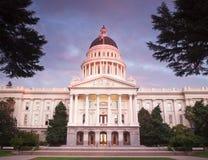 Het Capitool van de Staat van Californië in Sacramento stock fotografie