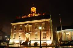 Het Capitool van de Staat van Delaware bij nacht stock afbeelding