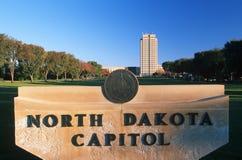 Het Capitool van de staat van Noord-Dakota, Bismarck Stock Foto's
