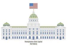 Het Capitool van de Staat van Pennsylvania in Harrisburg stock illustratie
