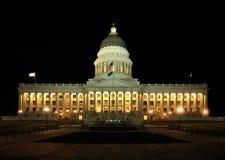 Het Capitool van de Staat van Utah bij nacht 1 Stock Foto's