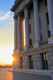 Het Capitool van de Staat van Utah bij zonsondergang in Salt Lake City Stock Foto's