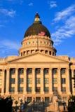 Het Capitool van de Staat van Utah met warm avondlicht, Salt Lake City Stock Afbeeldingen