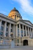 Het Capitool van de Staat van Utah in Salt Lake City in de avond Stock Fotografie