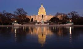 Het Capitool van de V.S. bij nacht. Washington DC Royalty-vrije Stock Afbeelding