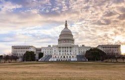 Het Capitool van de V.S. de Zonsopgang van het de Bouwwashington dc Royalty-vrije Stock Foto's