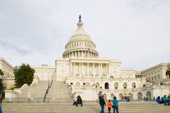Het Capitool van de V.S., samenkomende plaats van de Senaat en het Huis van Afgevaardigden stock fotografie