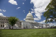 Het Capitool van de V.S., Washington DC, op zonnige dag in Augustus Royalty-vrije Stock Foto's