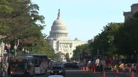Het Capitool van de V.S. in Washington, gelijkstroom stock videobeelden