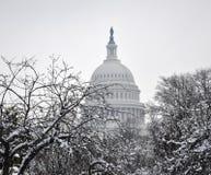 Het Capitool van de winter. Stock Fotografie