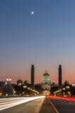 Het Capitool van Harrisburg bij nacht Stock Foto