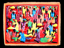 Het Caraïbische lokale kunst schilderen Royalty-vrije Stock Afbeeldingen