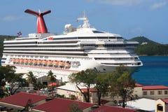 Het Caraïbische Schip van de Cruise stock foto