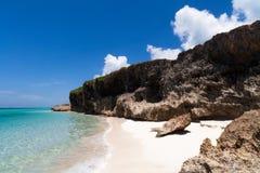 Het Caraïbische strand van Cuba met kustlijn in Havana Royalty-vrije Stock Fotografie