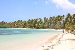 Het Caraïbische strand van Samanà ¡ Stock Foto