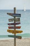 Het Caraïbische Teken van Eilanden Stock Afbeelding