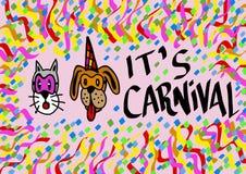 Het is Carnaval Royalty-vrije Stock Fotografie