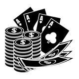 Het casino breekt pictogram af Royalty-vrije Stock Fotografie