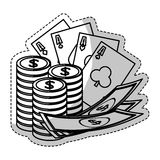 Het casino breekt pictogram af Royalty-vrije Stock Afbeelding