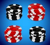 Het casino breekt stapel af Royalty-vrije Stock Afbeeldingen