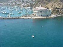 Het casino in Catalina stock afbeeldingen