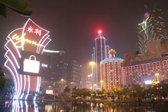 Het Casino Conner van Macao Royalty-vrije Stock Afbeeldingen