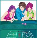 Het casino dobbelt 1 Stock Illustratie