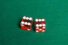 Het casino dobbelt Royalty-vrije Stock Foto's
