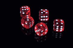 Het casino dobbelt Stock Fotografie