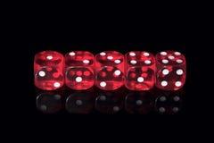 Het casino dobbelt Royalty-vrije Stock Afbeelding