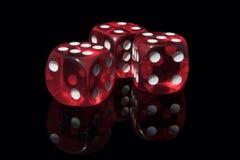 Het casino dobbelt Stock Foto