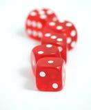 Het casino dobbelt Royalty-vrije Stock Afbeeldingen