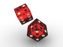 Het casino dobbelt Royalty-vrije Stock Fotografie
