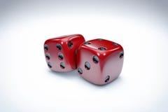 Het casino dobbelt Achtergrond Stock Afbeeldingen