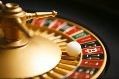 Het casino van Bitcoincryptocurrency Stock Foto