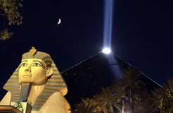 Het Casino van Luxor - Las Vegas - Nevada - de V.S. Stock Foto's