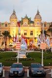 Het casino van Monte Carlo bij schemer Royalty-vrije Stock Fotografie