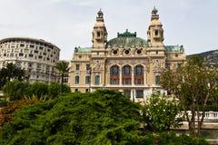 Het Casino van Monte Carlo en binnen gevestigd vermaak complex die gokken Stock Fotografie