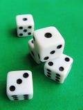 Het casinokubussen van de gok stock afbeeldingen