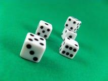 Het casinokubussen van de gok royalty-vrije stock afbeeldingen