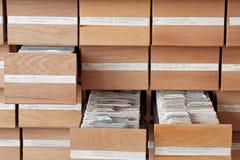 Het catalogiseren Stock Fotografie