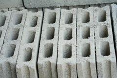Het cement blokkeert achtergrond, Concrete blokken royalty-vrije stock afbeeldingen